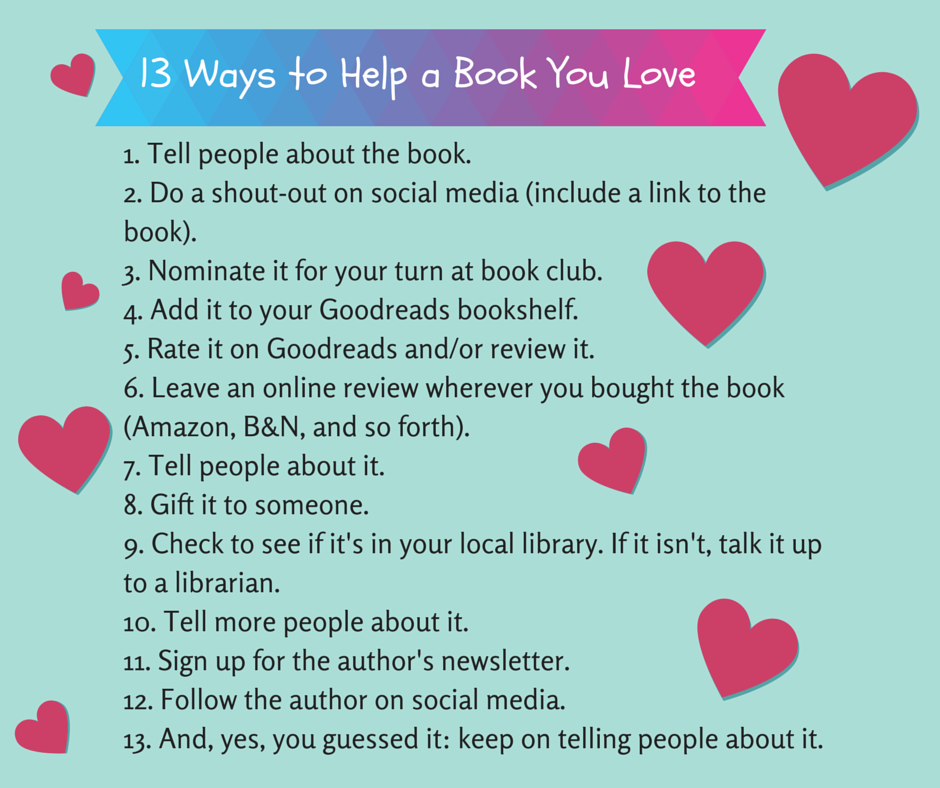13 Ways to Help a Book You Love