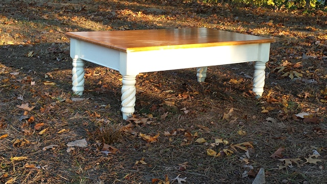 table in woods